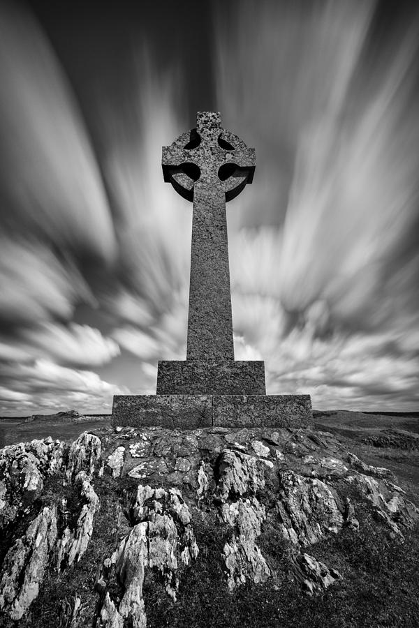 Celtic Cross Photograph - Celtic Cross by Dave Bowman