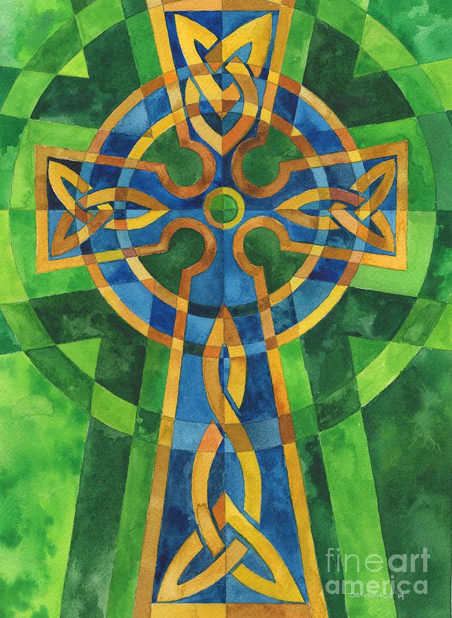 Cross Painting - Celtic Cross by Mark Jennings