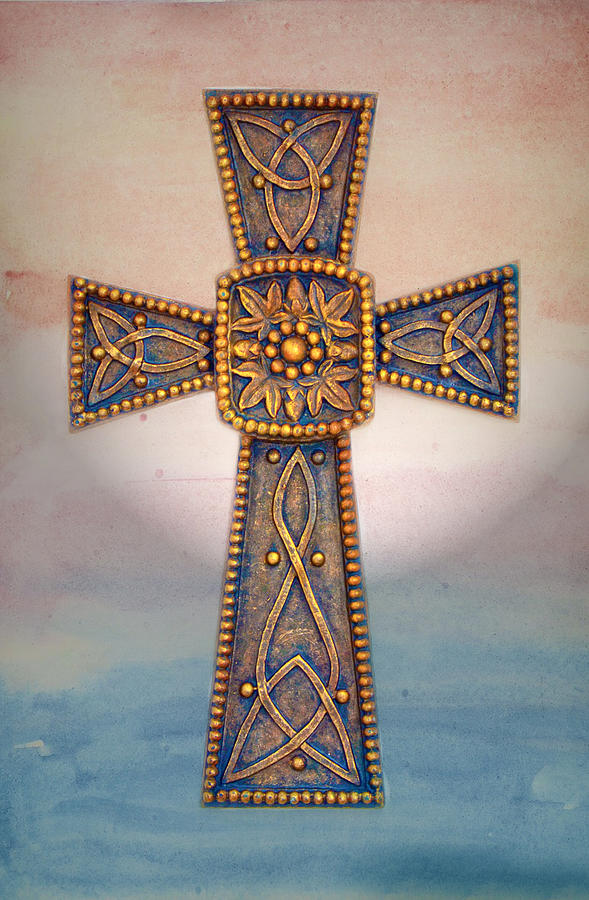 Cross Photograph - Celtic Cross Sunrise by Sandi OReilly