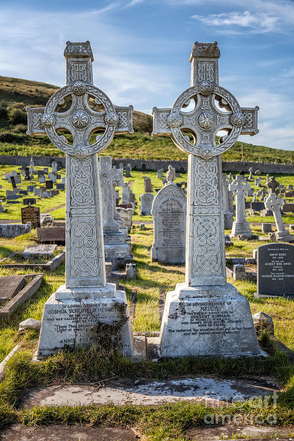 Hdr Photograph - Celtic Crosses by Adrian Evans