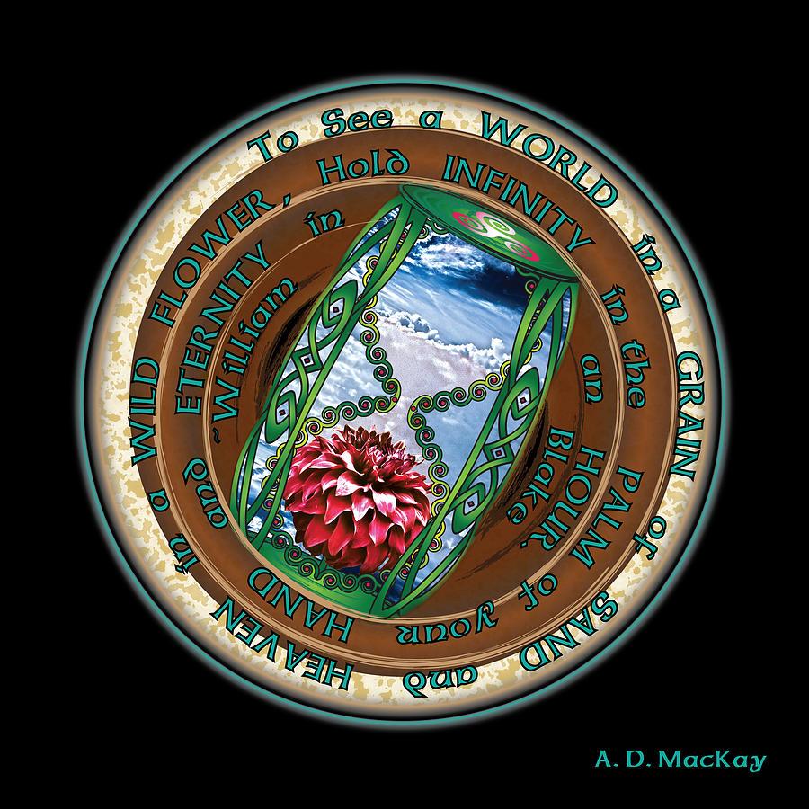 Celtic Knots Digital Art - Celtic Eternity by Celtic Artist Angela Dawn MacKay