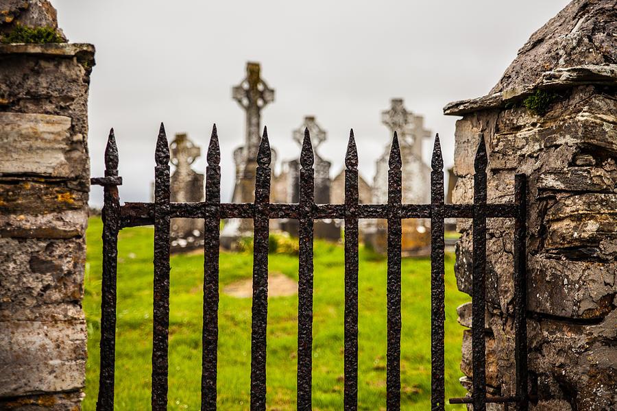 Celtic Photograph - Celtic Graveyard by Craig Brown