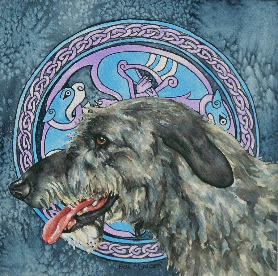 Celtic Painting - Celtic Hound by Beth Clark-McDonal