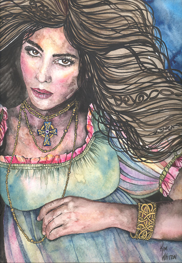 Watercolor Painting - Celtic Queen by Kim Whitton