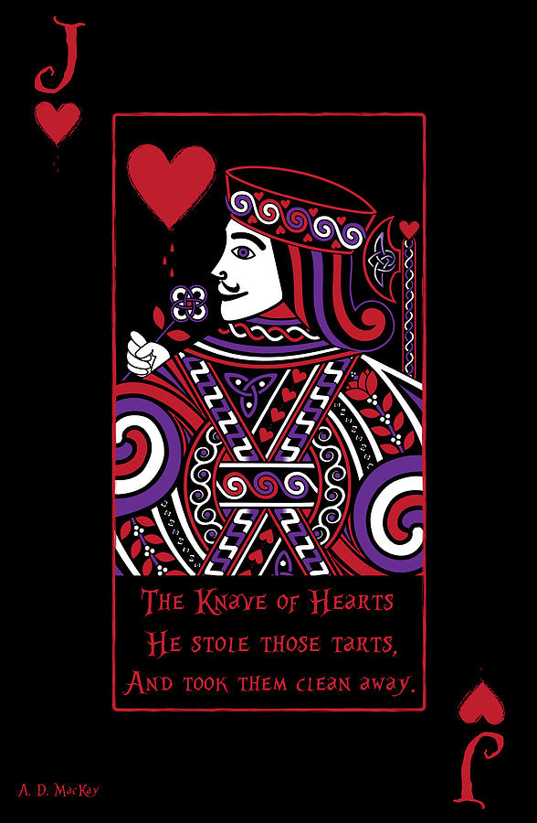 Celtic Queen of Hearts Part II The Knave of Hearts by Celtic Artist Angela Dawn MacKay