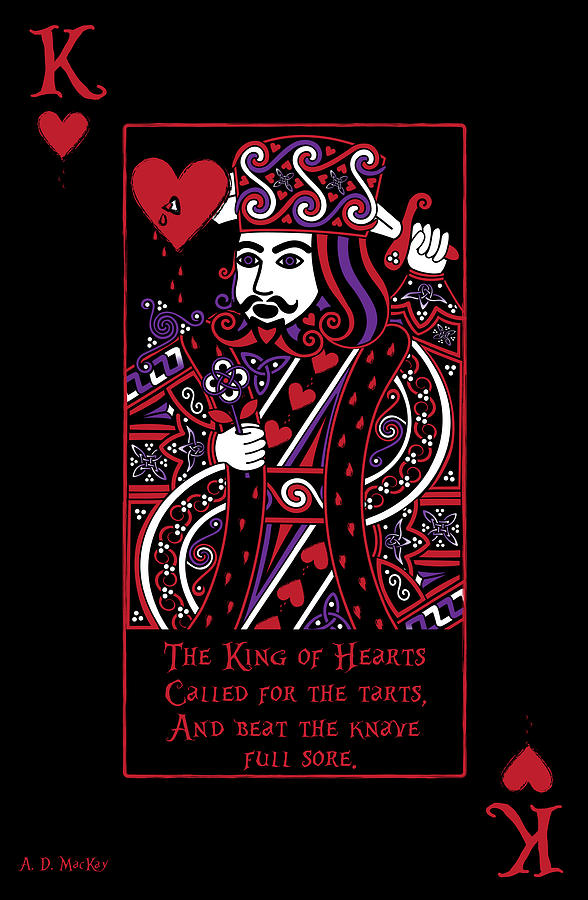 Playing Cards Digital Art - Celtic Queen Of Hearts Part IIi The King Of Hearts by Celtic Artist Angela Dawn MacKay