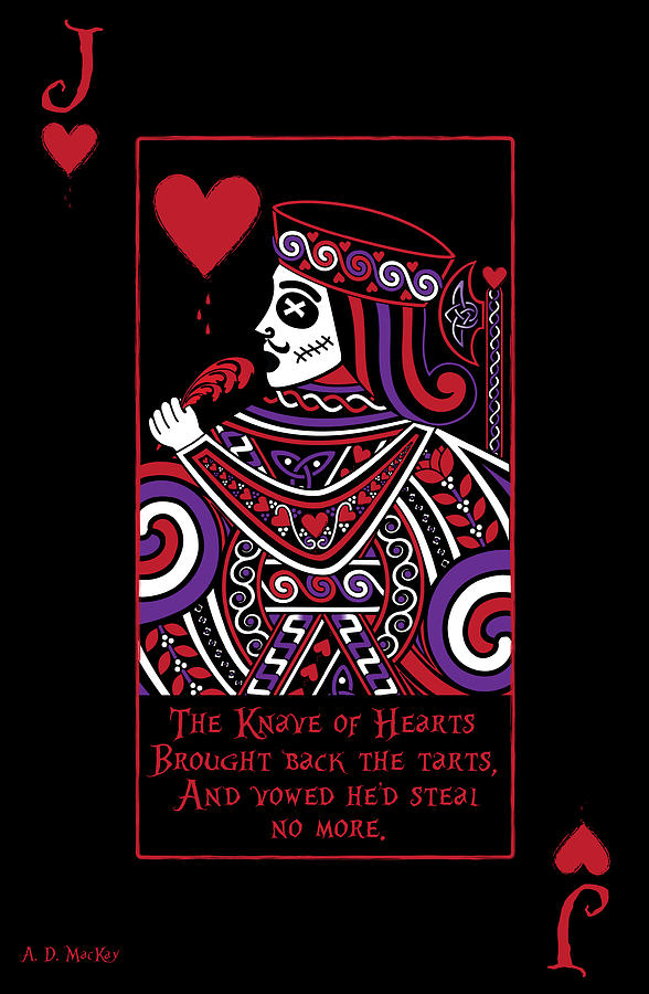Celtic Queen of Hearts Part IV The Broken Knave by Celtic Artist Angela Dawn MacKay