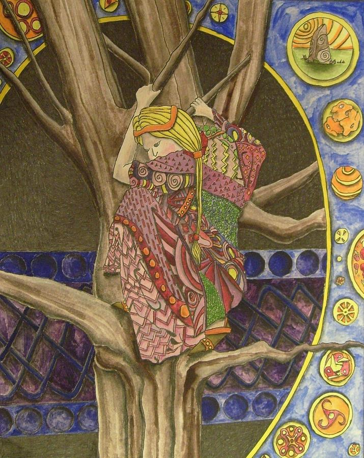 Celtic Painting - Celtic Tree II by Mark Greenhalgh