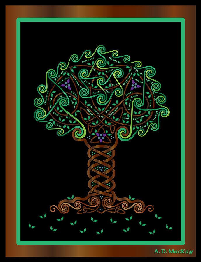 Tree Of Life Digital Art - Celtic Tree Of Life by Celtic Artist Angela Dawn MacKay