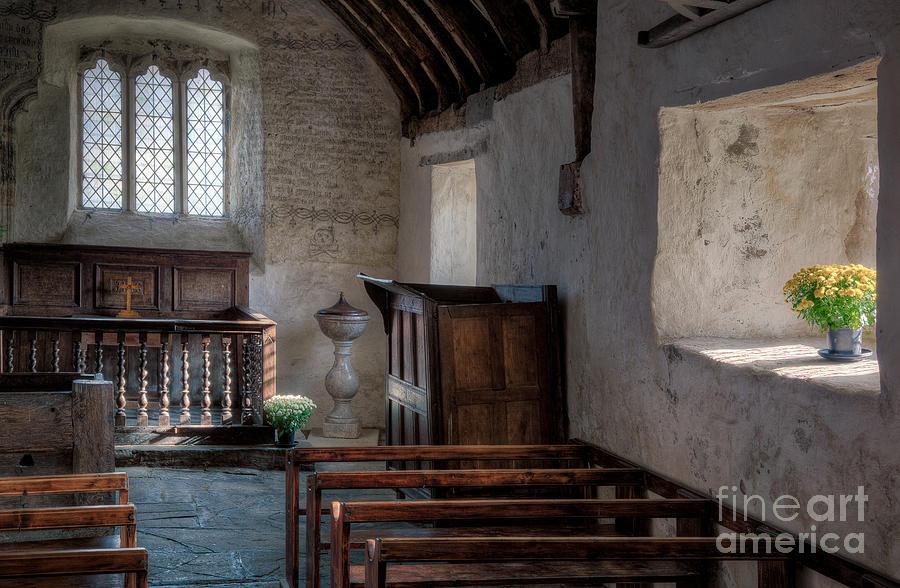 Altar Photograph - Celynnin Church by Adrian Evans