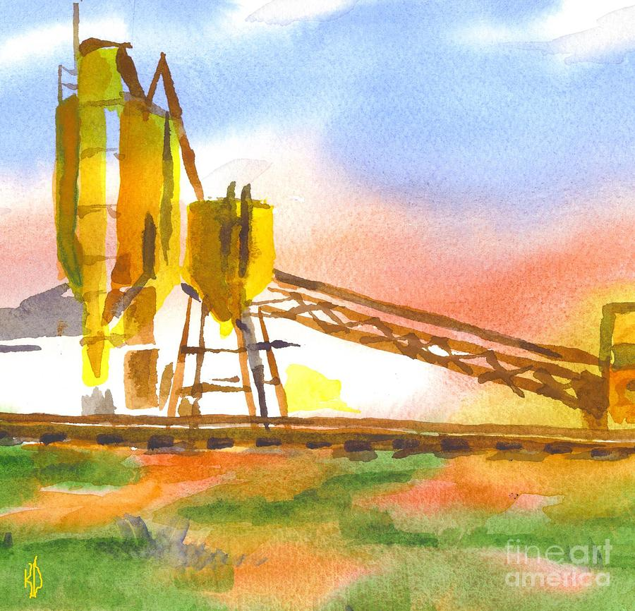 Cement Plant Ii Painting - Cement Plant II by Kip DeVore