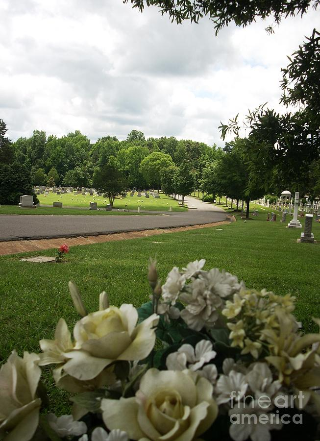 Artificial Photograph - Cemetary Flowers by Beebe  Barksdale-Bruner