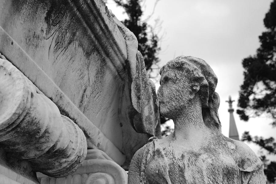 Cemetery Photograph - Cemetery Gentlewoman by Jennifer Ancker