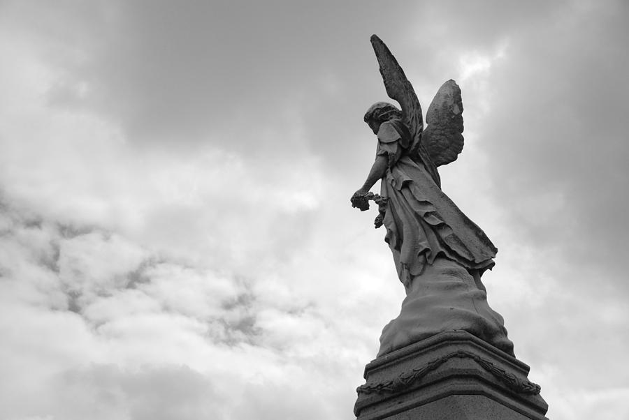 Cemetery Photograph - Cemetery Watcher by Jennifer Ancker