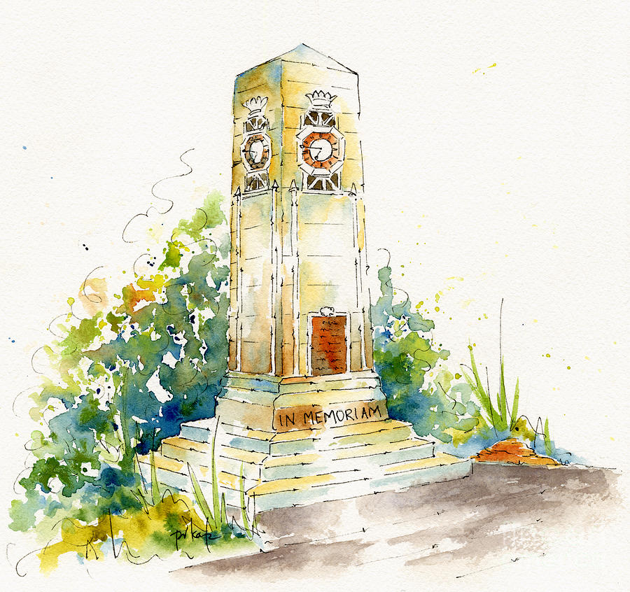 Impressionism Painting - Cenotaph Clock Tower by Pat Katz