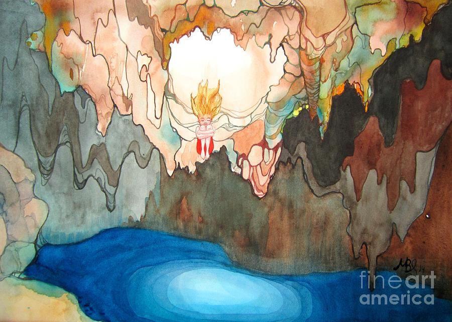 Cenote Painting - Cenote by Maya Simonson