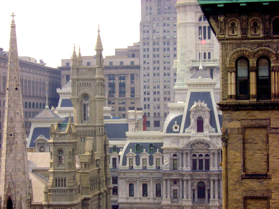 Center City Photograph - Center City Philadelphia by Cynthia Harvey