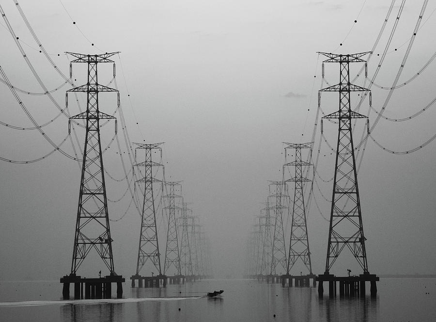 Pylon Photograph - Center by Donghee, Han
