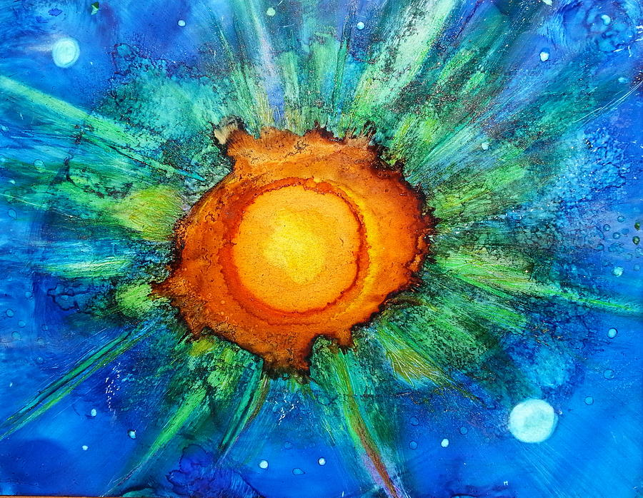 Landscape Painting - Center Of The Universe by Kelly Dallas