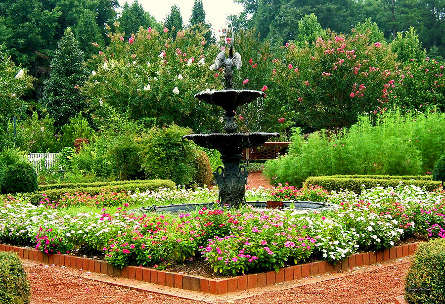 Fountain Photograph   Centerpiece Fountain At The Gardens 002 By George  Bostian