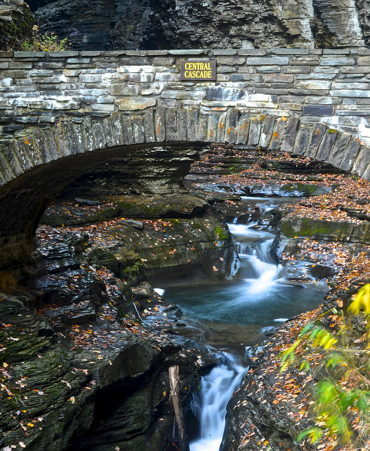 Central Photograph - Central Cascade by Frozen in Time Fine Art Photography