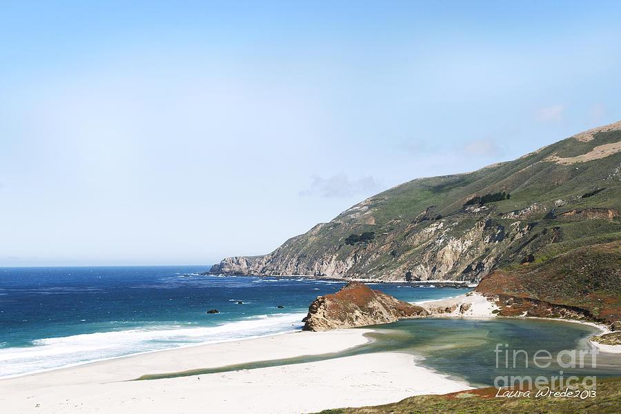 Big Sur Photograph - Central Coast Beach Near Cambria And San Simeon by Artist and Photographer Laura Wrede