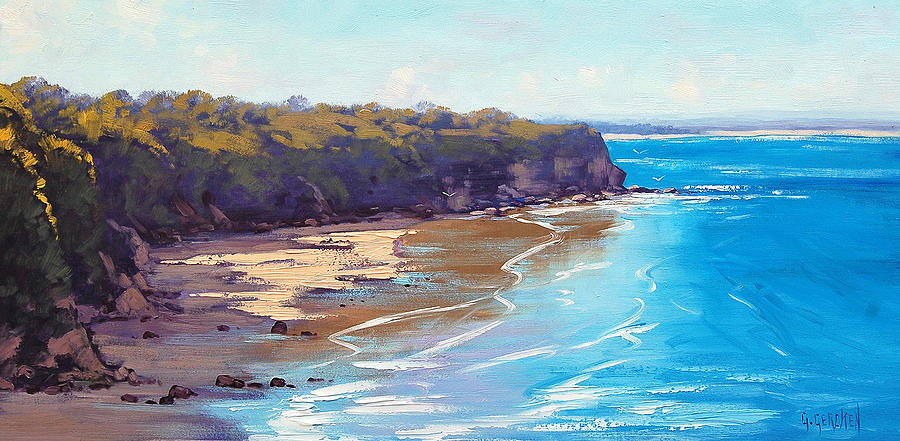 Seascape Painting - Central Coast Headland by Graham Gercken