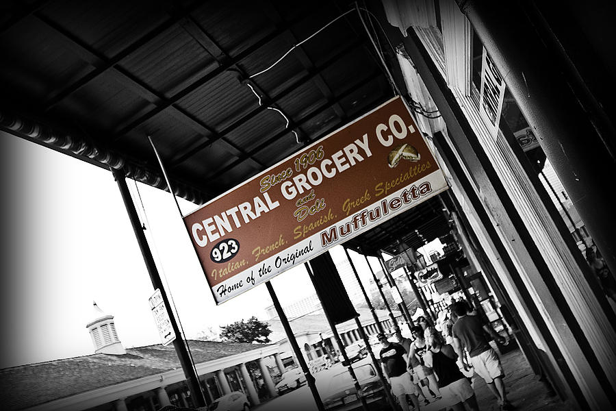 Black & White Photograph - Central Grocery by Scott Pellegrin