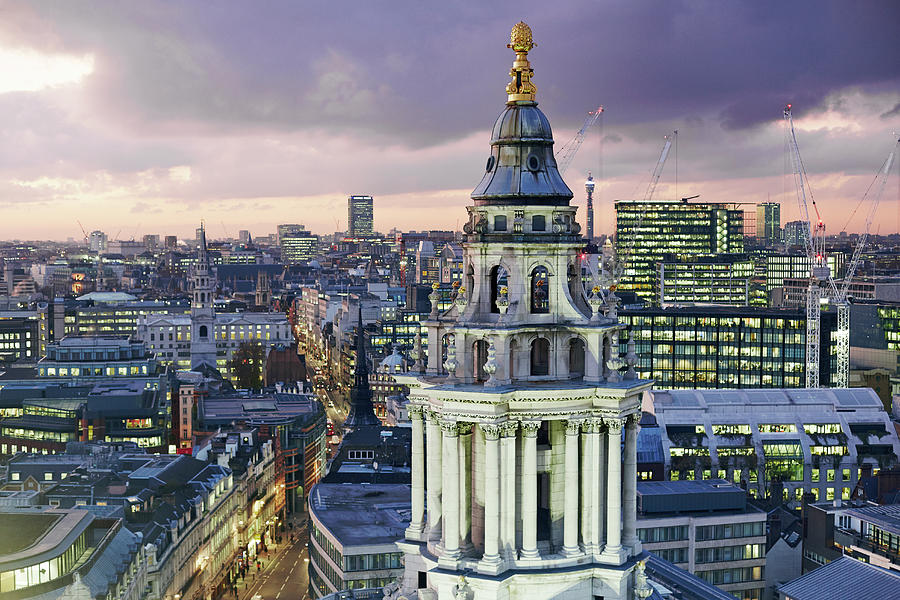 Central London From St Pauls Cathedral Digital Art by Allan Baxter