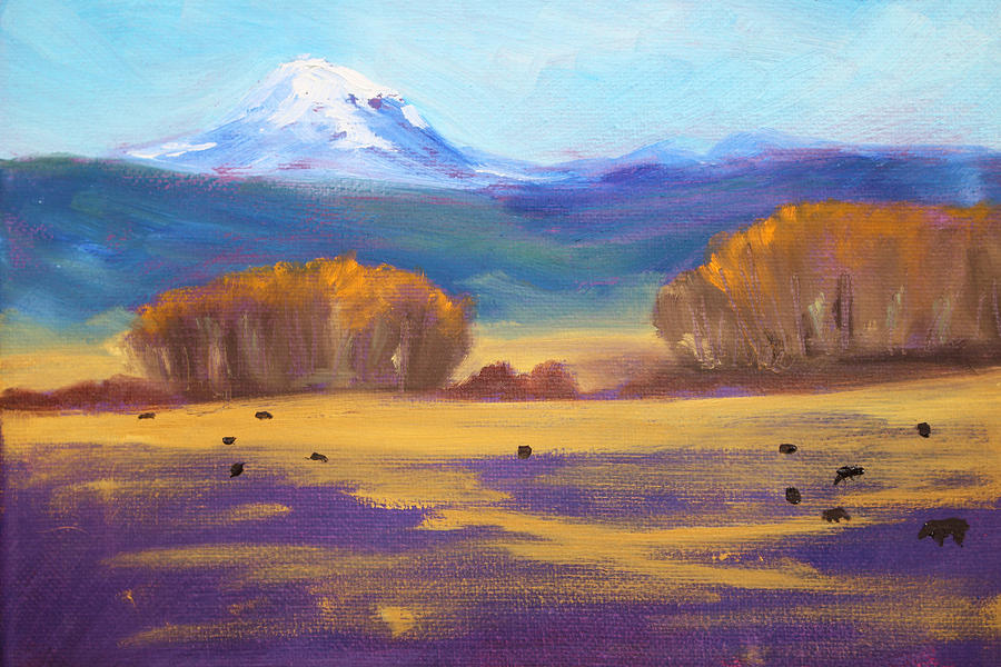 Mountain Painting - Central Oregon by Nancy Merkle