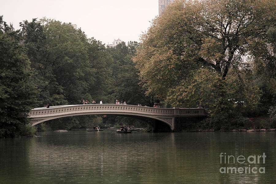 Bow Bridge Photograph - Central Park Bow Bridge by David Bearden