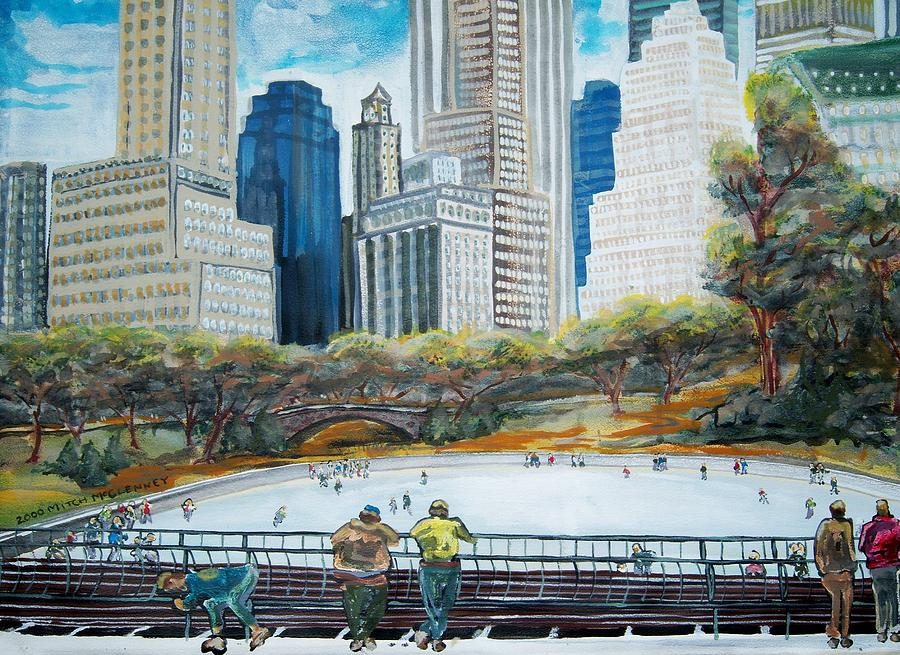 New York Painting - Central Park Ice Rink by Mitchell McClenney