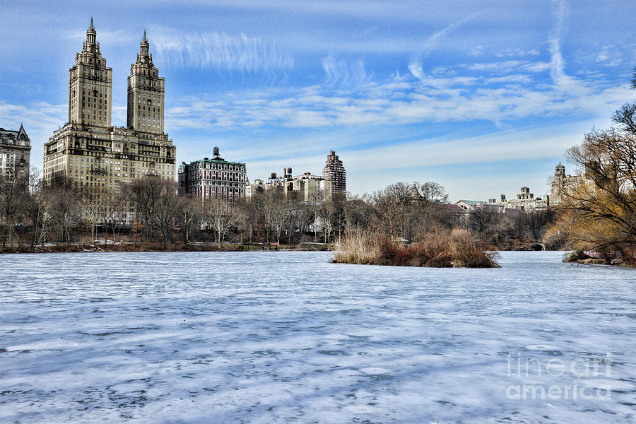 Paul Ward Photograph - Central Park Lake Looking West by Paul Ward
