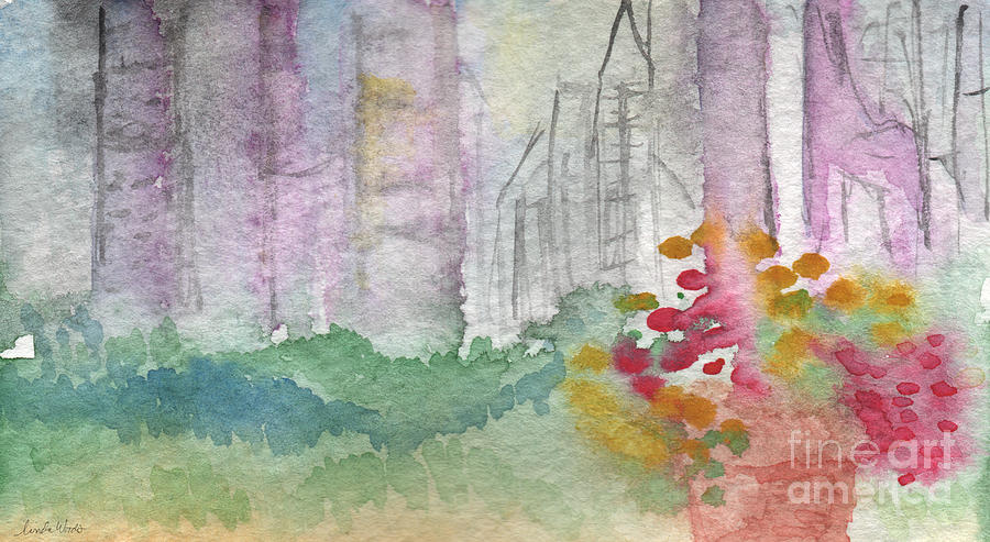 Garden Painting - Central Park  by Linda Woods