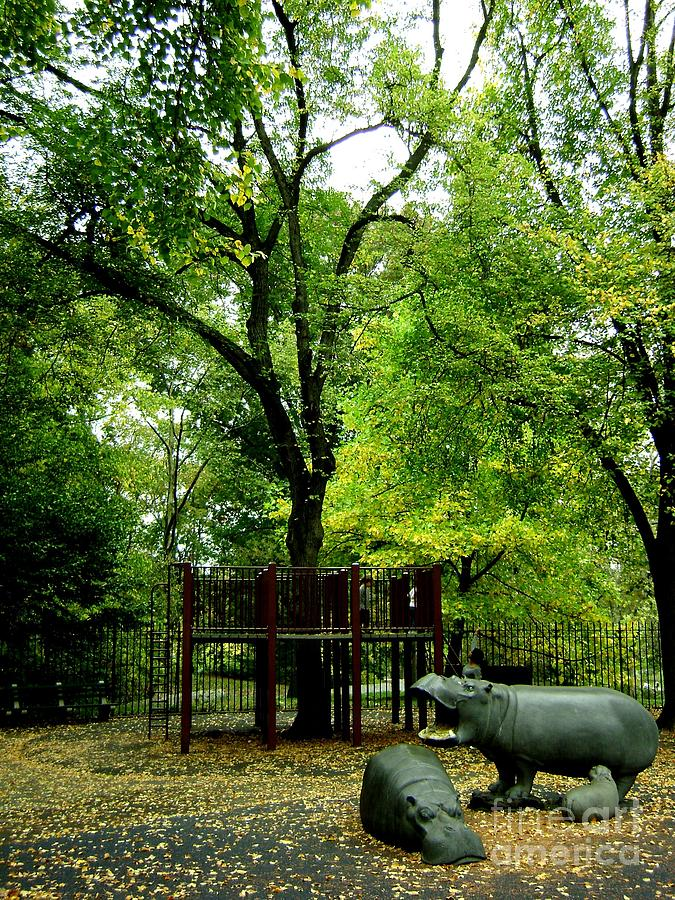 Landscape Photograph - Central Park Playground by Claudette Bujold-Poirier