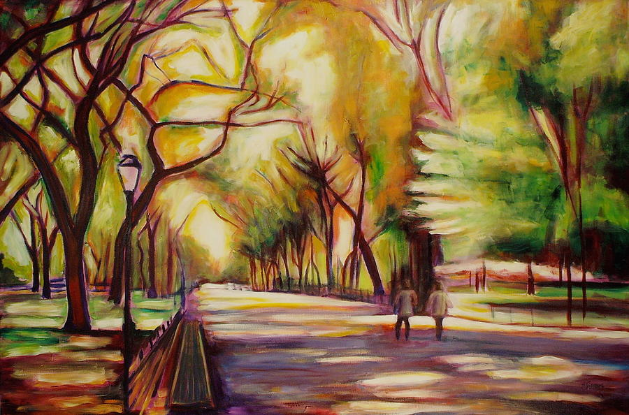 Central Park Painting By Sheila Diemert