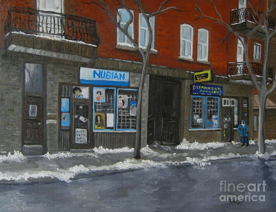 Pointe St Charles Painting - Centre Street Pointe St Charles by Reb Frost
