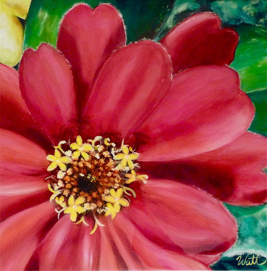 Flowers Painting - Centred On You by Tammy Watt