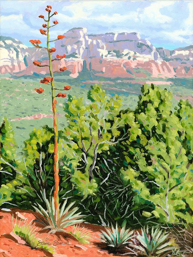 Century Plant Painting - Century Plant - Sedona by Steve Simon
