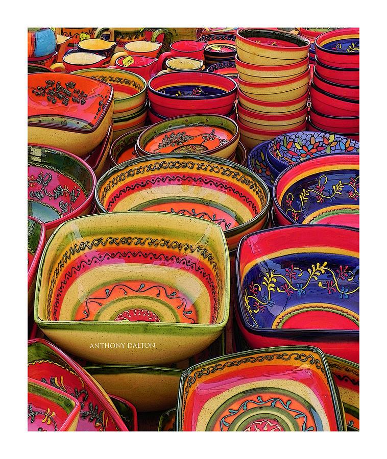 Ceramics Photograph - Ceramic Bowls by Anthony Dalton