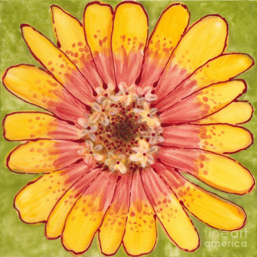 Flower Painting - Ceramic Flower 1 by Anna Skaradzinska