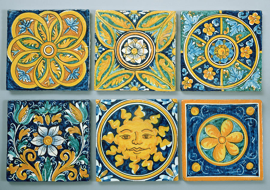 Ceramic Tiles In The Typical Caltagirone Style Ceramic Photograph by ...