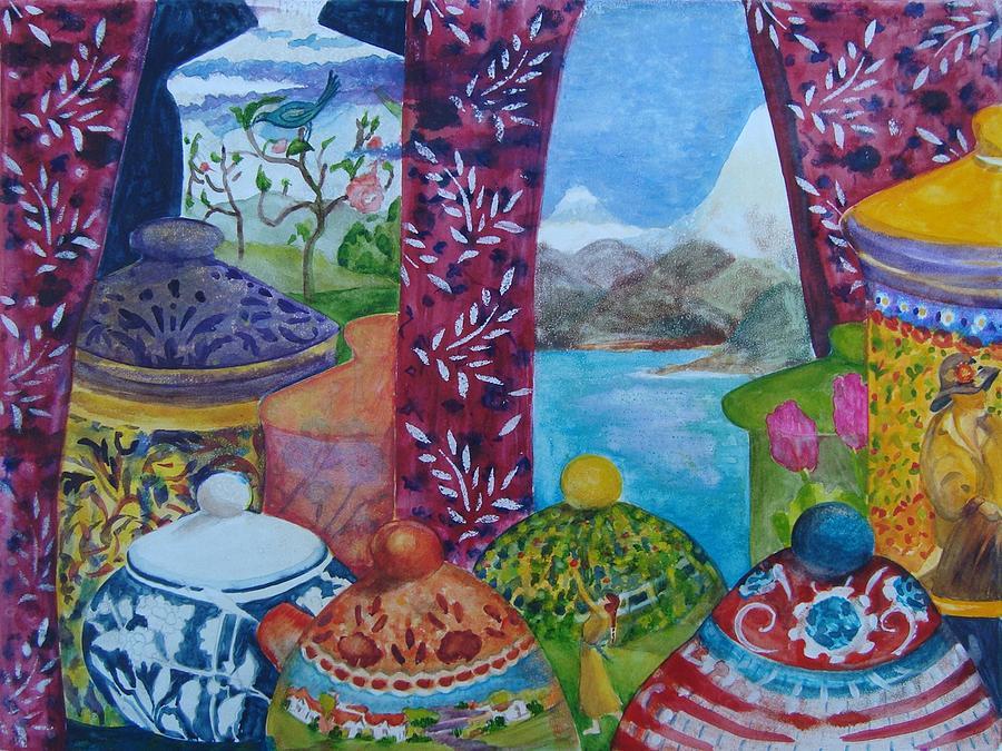 Ceramic Mixed Media - Ceramics View 3 by Karen Coggeshall