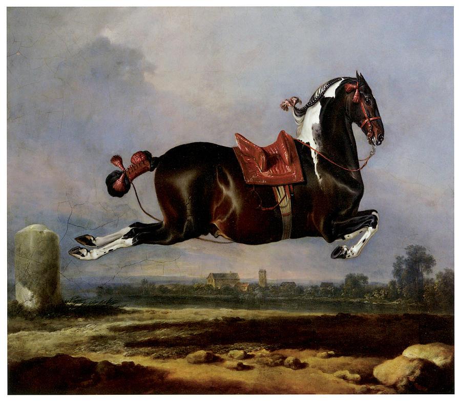 Horse Jumping Painting - Cerbero by Johann Georg von Hamilton