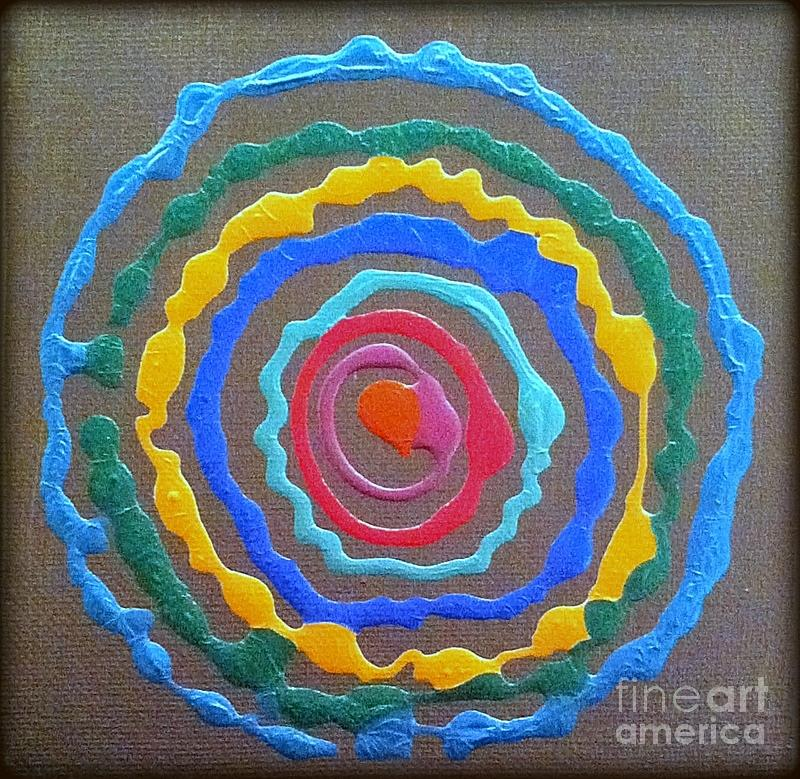 Circle Painting - Cercle Couleur  by Pruddygurl Exclusives