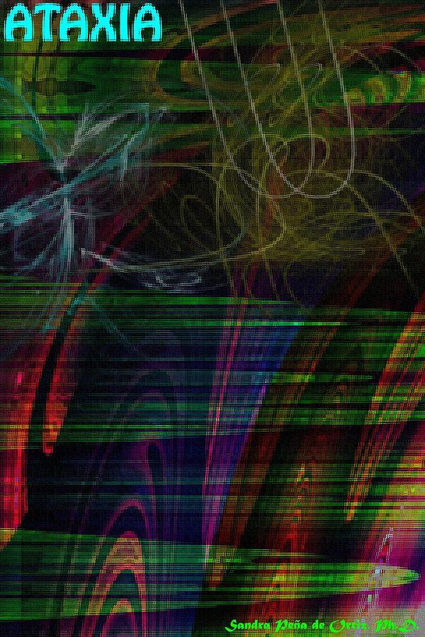 Homage Photograph - Cerebellar Ataxia Art 3 by Sandra Pena de Ortiz