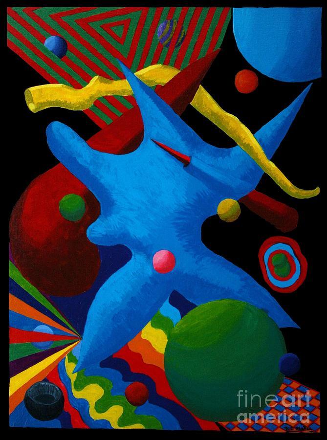 Abstract Painting - Cerebral Cessation by Vicki Maheu