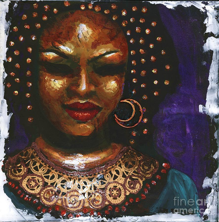 Woman Painting - Ceremonial Dress by Alga Washington