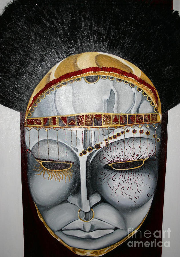 Ceremonial War Mask Painting