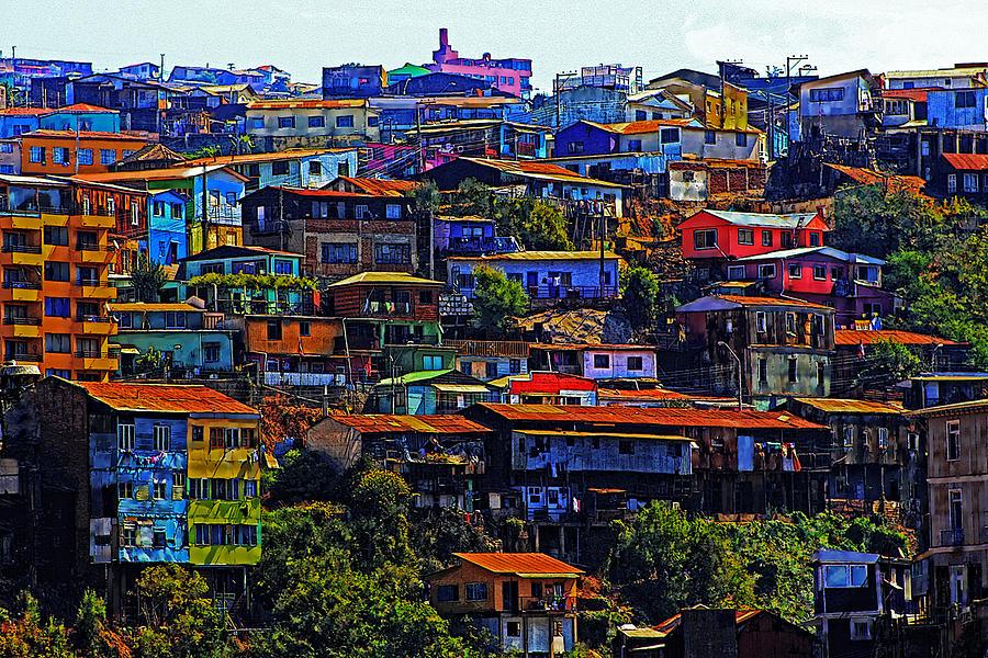 Valparaiso Photograph - Cerro Valparaiso by Kurt Van Wagner